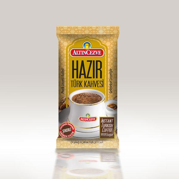 Altıncezve Hazır Türk Kahvesi Şekerli - Tek İçim - Tek Kullanımlık