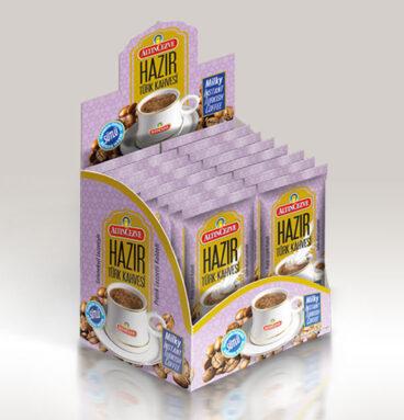 Altıncezve Hazır Türk Kahvesi Sütlü - Tek İçim - Tek Kullanımlık
